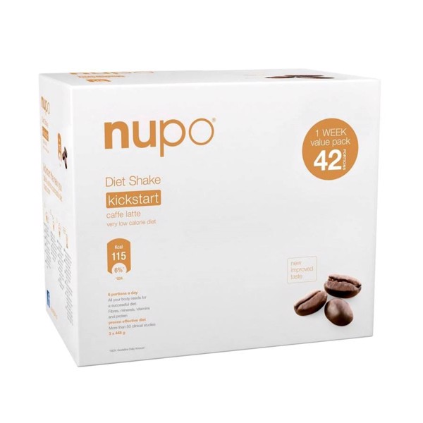Nupo Diet Shake Value Pack 3 X 448 Gram Caffe Latte